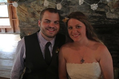 Tyler and I at our wedding in beautiful blowing rock!! The Newlyweds - Kristen and Tyler's Wedding in Blowing Rock, NC, USA
