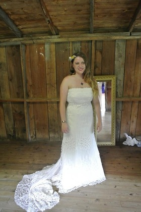 My macramé gown The Wedding Dress - Kristen and Tyler's Wedding in Blowing Rock, NC, USA