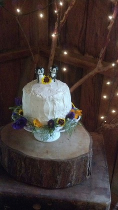 Cake made by the moh Cakes and Desserts - Kristen and Tyler's Wedding in Blowing Rock, NC, USA