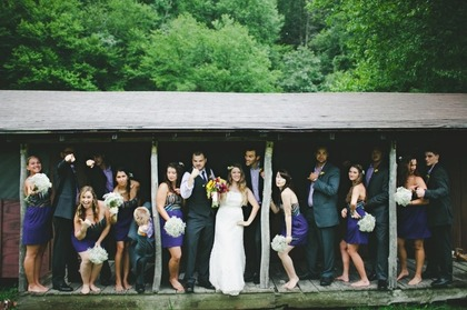Wedding Party Attire - Kristen and Tyler's Wedding in Blowing Rock, NC, USA