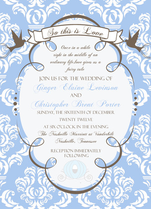 Invitations by Ever After Printables The Invitations - Ginger and Brent's Wedding in Nashville, TN, USA
