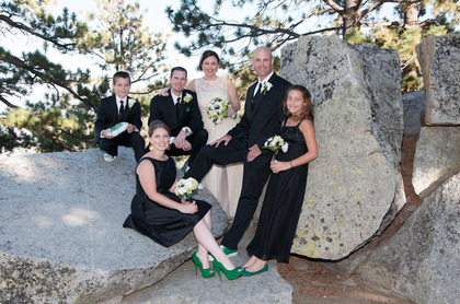 Wedding Party Attire - Lake Tahoe Wedding In September in South Lake Tahoe, CA, USA