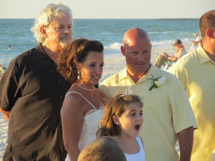 My beautiful niece singing Amazing Grace The Ceremony, Lowdermilk Park, Naples, FL - Naples Wedding In October in Naples, FL, USA