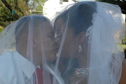 Second Kiss! The Newlyweds - latoya and cyndia's Wedding in San Antonio, TX, USA