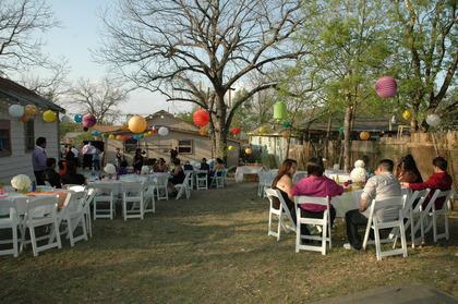 Our backyard reception Flowers and Decor - latoya and cyndia's Wedding in San Antonio, TX, USA
