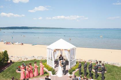 The Ceremony - Gwen & Chris's Wedding in Traverse City, MI, USA