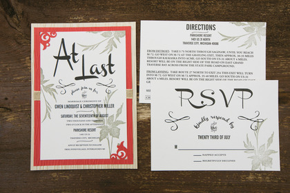 The Invitations - Gwen & Chris's Wedding in Traverse City, MI, USA