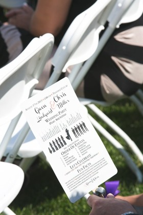 Fans for Programs // Brilliant! The Invitations - Gwen & Chris's Wedding in Traverse City, MI, USA