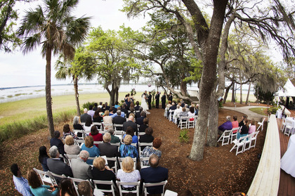 The Ceremony - Courtney and Josh's Wedding in Bluffton, SC, USA