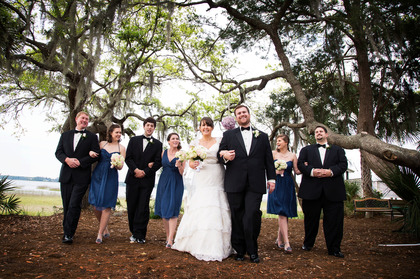 Wedding Party Attire - Courtney and Josh's Wedding in Bluffton, SC, USA