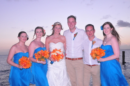 Wedding Party Attire - Leanne and George's Wedding in Cancun, Mexico