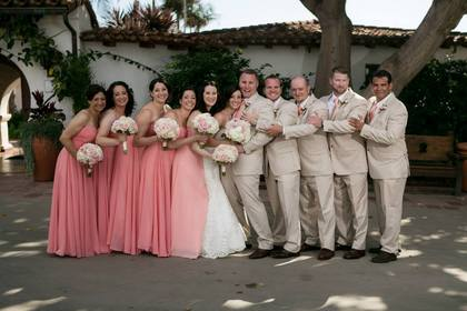 Wedding Party Attire - San Clement Wedding In August in San Clemente, CA, USA