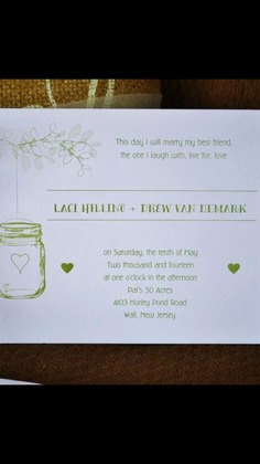 The Invitations - Laci and Drew's Wedding in wall,nj