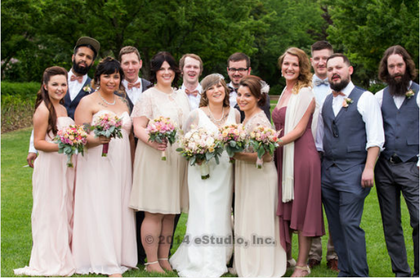 Bridsmaids dresses: Davids Bridal   Groomsmen suits: ASOS Wedding Party Attire - Jennifer and Ian's Wedding in Lombard, IL, USA