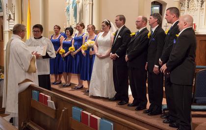 The Ceremony - Canton Wedding In June in Canton, IL, USA