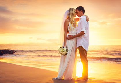 Romantic Couple on Siesta Key Beach, FL