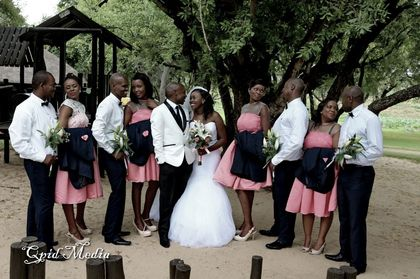 Wedding Party Attire - Lawrence and Kabelo in Mmakaunyane, South Africa