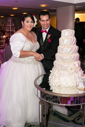Dress from Ava Laurenne Bride in Fredericksburg, VA  and Cake by Nedjy Rivera The Newlyweds - San Juan Wedding In November in San Juan, San Juan, Puerto Rico