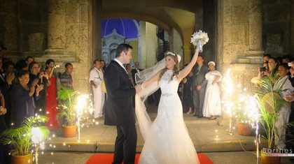 The Newlyweds - Maria and Ospitia's Wedding in Cartagena, Bolivar, Colombia