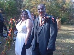 Jennifer and Ian's Zombie Wedding in Social Circle, GA, USA