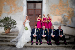 Caroline and Alan's Wedding in Tragliata, Fiumicino, Italy