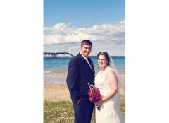 Mackinaw City Wedding In August in Burt Lake, MI, USA