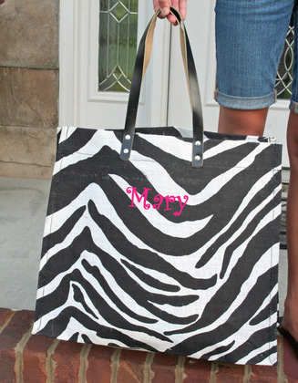 Monogrammed Tote Bags - Favors - The Monogram Divas