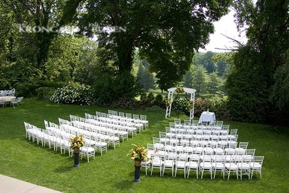 Set for a Garden Wedding Ceremony at Crabtree's Kittle House Restaurant and Inn -  - Crabtree's Kittle House Restaurant and Inn