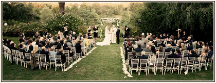 A Garden Wedding Ceremony at Crabtree's Kittle House Restaurant and Inn -  - Crabtree's Kittle House Restaurant and Inn