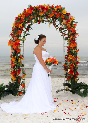 """Princess Arbor Tropical"" - Ceremonies - Destin Beach Brides"