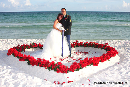 """Rose Heart"" is a great package for a Destin Beach Wedding - Ceremonies - Destin Beach Brides"