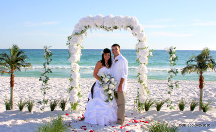"""Princess Arbor"" A great arbor for your Destin Beach Wedding. - Ceremonies - Destin Beach Brides"