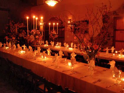 Lovely candlelit dinner reception. -  - La Honda Winery