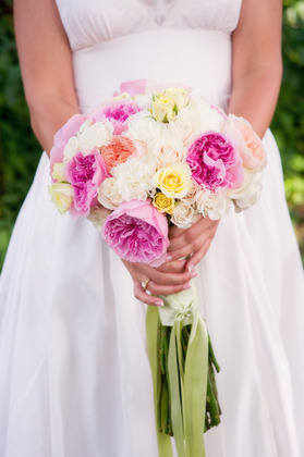 Bridal Bouquet - Elm Bank - Garden and Spray Roses - Flowers and Decor - Land Escapes Design Inc.