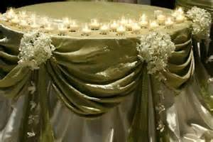 Elegant cake table draping.  Call for more information. -  - A SPARK OF ELEGANCE