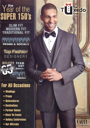 The Tuxedo Club's 42 page brochure featuring the latest styles and colors.  Email/Call to request our VIP Wedding Package sent to you.   - Wedding Party Attire - The Tuxedo Club