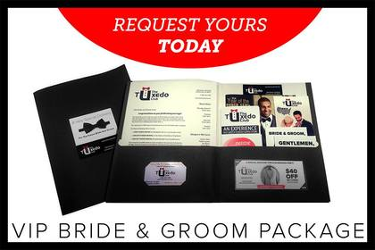 Contact us to receive your VIP Bride and Groom Package, you and your party will be glad you did!   - Wedding Party Attire - The Tuxedo Club
