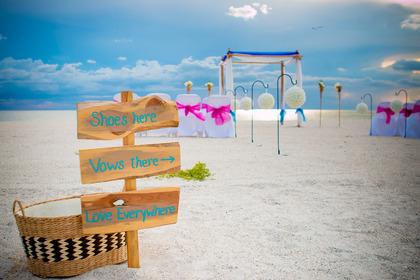 Destination Wedding (No Shoes Required) - Bradenton Beach, FL www.gulfbeachweddings.com - Ceremonies - Florida Gulf Beach Weddings