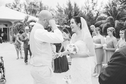 Bahamas wedding ceremony ... Groom tears up - Rebecca and Patrick married. - Ceremonies - Chic Bahamas Weddings