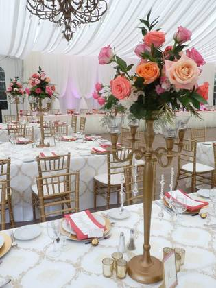 Antique Gold Candelabras for Rent - Flowers and Decor - Annie Lane Events & Decor