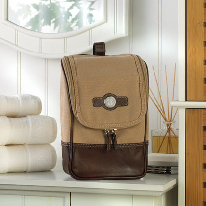 Leather Travel Kit -  - Groovy Groomsmen Gifts