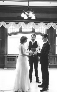 Officiant Shawn (photo by Erica Miller) -  - Young Hip & Married