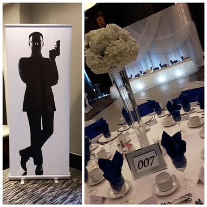 James Bond Theme Wedding Decor - Flowers and Decor - Annie Lane Events & Decor