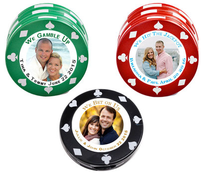 Casino Favors Theme POKER CHIP MINT TIN Candy - Favors - CUSTOM MINT TINS FAVORS