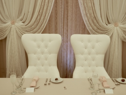 Bride & Groom Chairs with Rhinestone for Rent - Flowers and Decor - Annie Lane Events & Decor