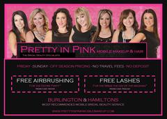 PRETTY IN PINK - Mobile Makeup & Hair - Wedding Day Beauty Vendor - Burlington, Hamilton, CANADA