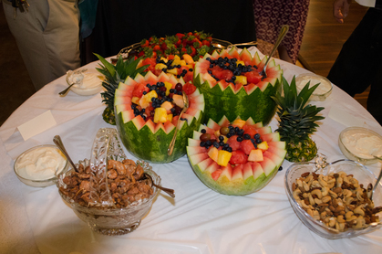Full catering services from Fruit trays and finger foods to Home Cooked Pulled Pork BBQ buffets - All made from scratch! - Cakes and Desserts - gardens of sunshine hollow