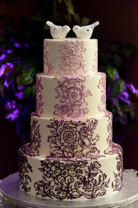 This cake was simply gorgeous and delicious! Cakes and Desserts - Devine and John's Wedding in Dunedin, FL, USA