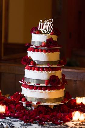 Cake was chocolate with a whipped cream and fresh strawberry filling Cakes and Desserts - William & Amber's Wedding - Stroudsburg, PA in Stroudsburg, PA, USA
