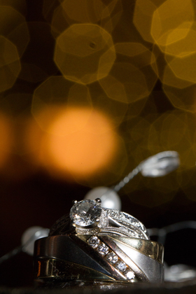 His ring was 100% unique; designed by the bride so there's nothing else out there like it. Her ring wasn't designed but the groom spent months looking for the perfect diamond. Both rings were found at Kay's Jewelers Jewelry - William & Amber's Wedding - Stroudsburg, PA in Stroudsburg, PA, USA
